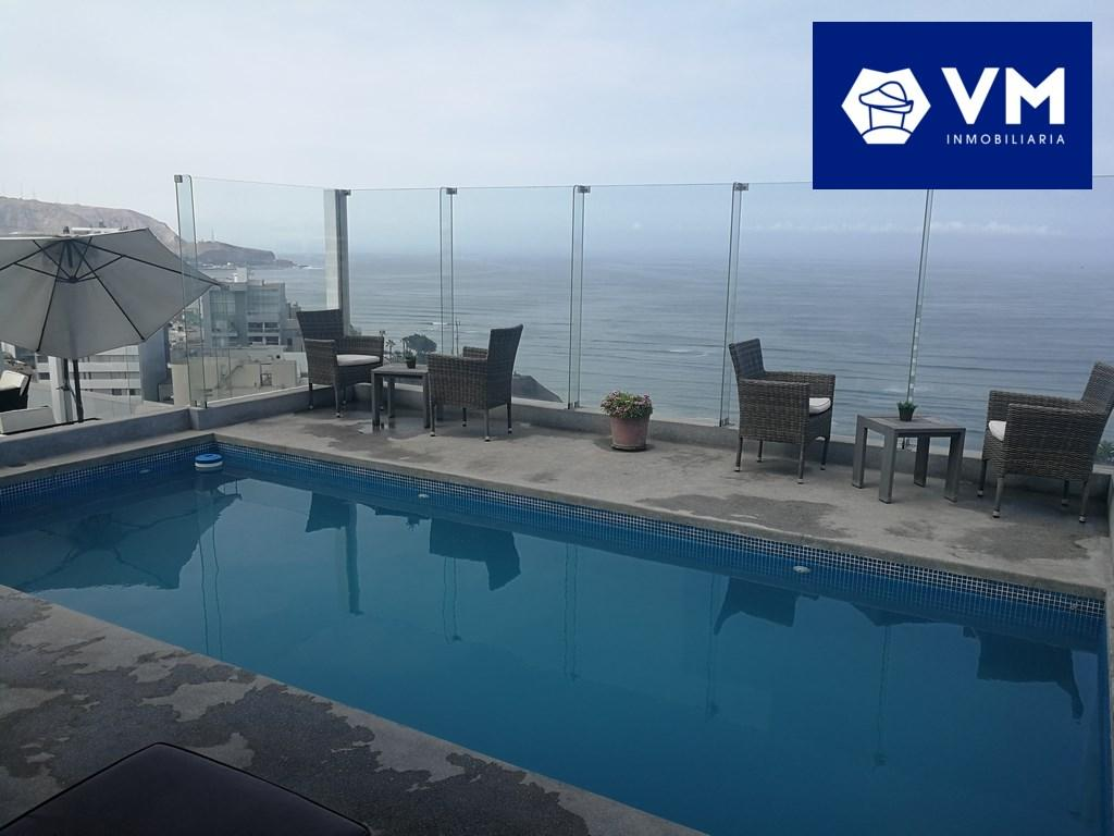 Departamento en Alquiler Malecon Paul Harris, Barranco, Lima